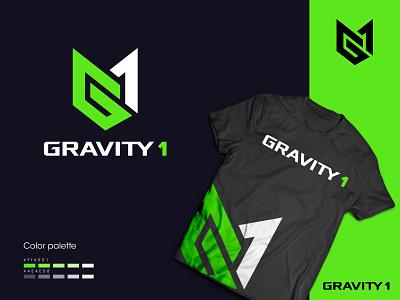 Gravity1 LOGO design fiverrgigs monogram logo g letter logo branding logo