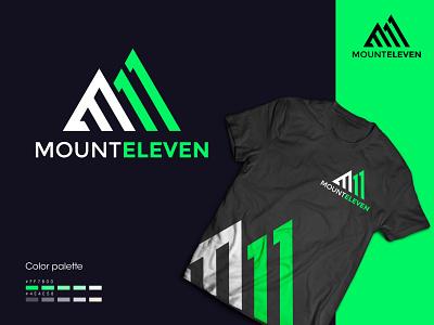 Mount Eleven LOGO design eleven mountain logo monogram logo logo