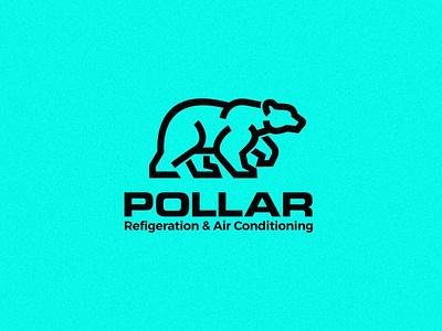 Pollar Logo Design polar logo bear logo flat logo minimalist logo vector branding design logo