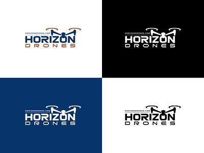 horizon drones logo design horizon logo areal logo drone logo vector branding design logo