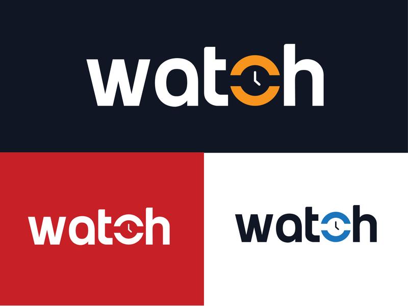 watch brand design design business logo flat brand identity professional unique logo modern logo modern graphic design lettering logotype logo design logo watch