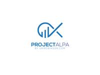 Projecct alpa minimalist logotype modern logo logo design graphic design unique logo flat brand design business logo brand identity