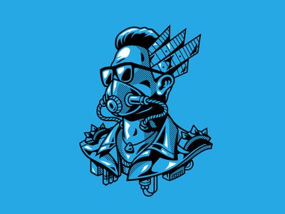 Regulo Caro illustrator madmax punk caro brand caro regulo music vector illustration