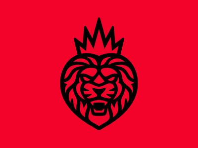 Fierce King ryan garcia kingry crown brand boxing heart king lion branding logo illustration illustrator