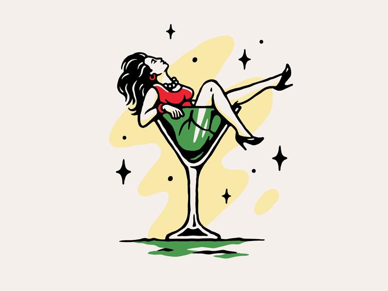 Bandana Tijuana illustration vector pattern bandana bar sexy drinks girl cup drink mexico tijuana