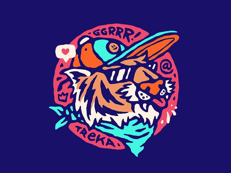 Tigrrr! glasses like tongue cap swag animal tiger illustration vector