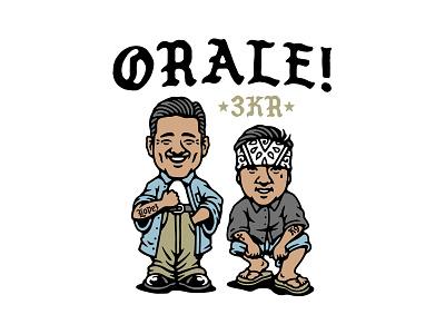 Orale! bandana street cholos homies club fight boxing illustration vector