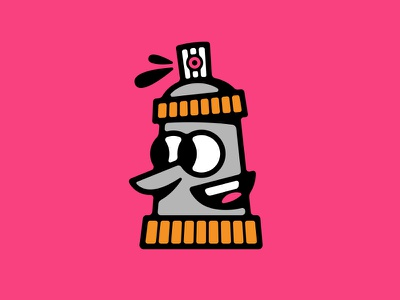 Spray Can graffiti street happy illustration vector paint spray