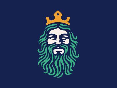 Mezcal Poseidón branding brand ocean god greek oaxaca mexico drink mezcal sea king illustration vector poseidon