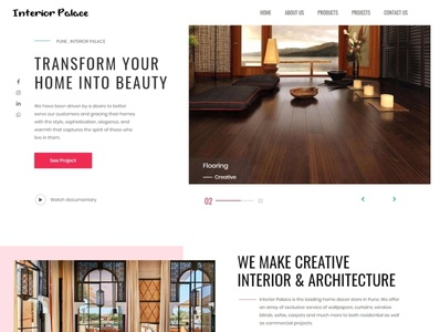 Interior Palace Website seo webdesign php html5 css3 codeigniter bootstrap ajax