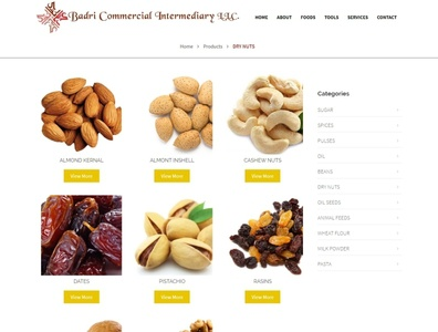 Badri International Website webdesign seo php html5 css3 codeigniter bootstrap ajax
