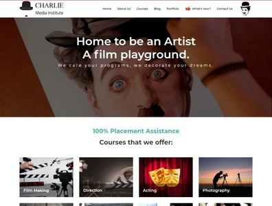 Charlie Media Institute Website webdesign seo php html5 css3 codeigniter bootstrap ajax