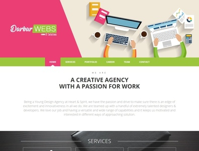Darbarwebs IT Solutions Website webdesign seo php html5 css3 codeigniter bootstrap ajax