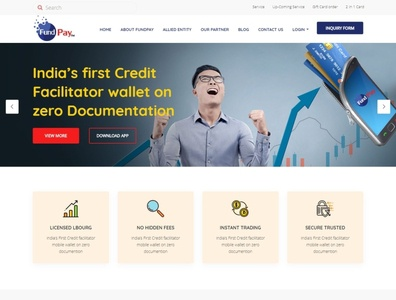 FundPay Website webdesign seo php html5 css3 codeigniter bootstrap ajax