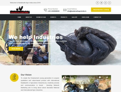 Kadaknath Agro India Website webdesign seo php html5 css3 codeigniter bootstrap ajax