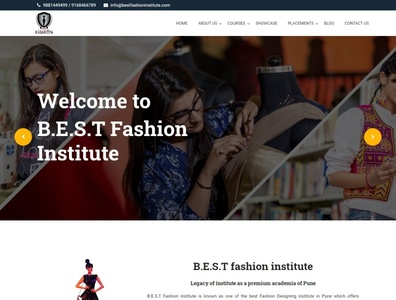 Best Fashion Institute Website webdesign seo php html5 css3 codeigniter bootstrap ajax