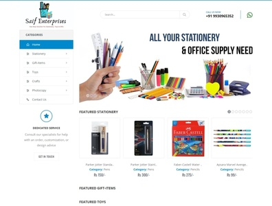 Saif Enterprises Website webdesign seo php html5 css3 codeigniter bootstrap ajax