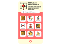 Mid Autumn icon 1.0 chinese chinese culture culture mid autumn festival mid autumn autumn ui icon set icons icon design icon