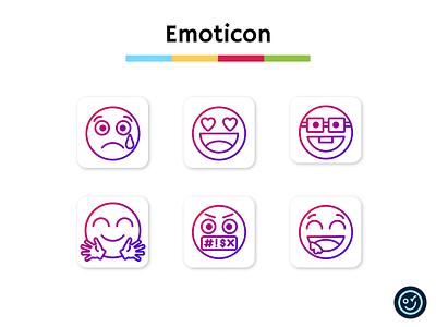Emoticon icon pack emoji emoticon illustration design iconography ui icon set icons icon design icon