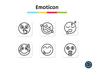 Emoticon icon pack smile emoji emoticon illustration design ui iconography icon set icons icon design icon