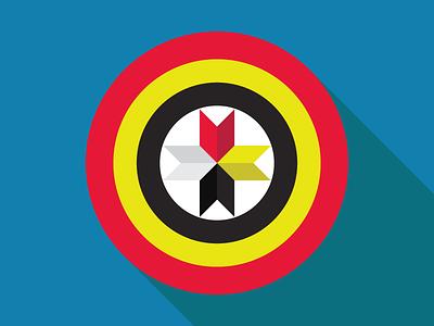 Captain Native America's Medicine Shield graphic design vector medicine shield native american heritage month
