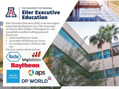 Eller Executive Education - One Page Brochure brochure eee collateral