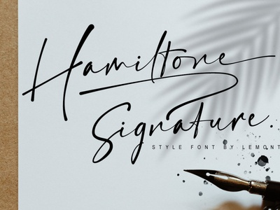 Hamiltone   Signature font design signature font font typogaphy branding