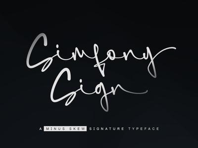 SimfonySign - Signature signature font typography branding typeface design typogaphy fonts