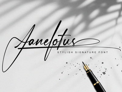 Janelotus - Signature Font handlettering calligraphy illustration typography typeface signature font branding design fonts