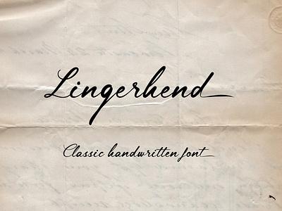 Lingerhend Script Font typeface logo design branding calligraphy typography handlettering fonts