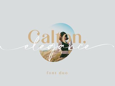 Calton Elegance Font Duo fonts handlettering typeface font calligraphy typography design branding