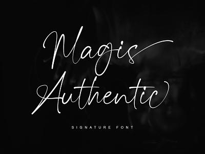 Magis Authentic - Signature Font logo illustration typeface fonts signature font design branding calligraphy typography handlettering