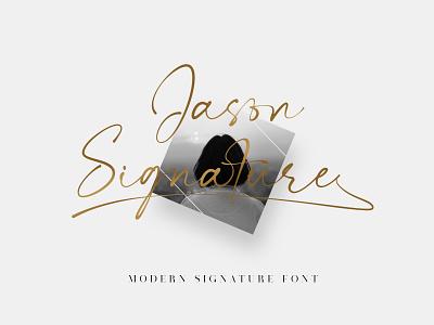 Jason Signature Font handlettering typeface branding signature font fonts design calligraphy typography
