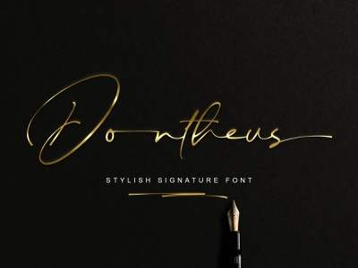 Dontheus Signature Font logo calligraphy handlettering branding design signature font typeface typography fonts