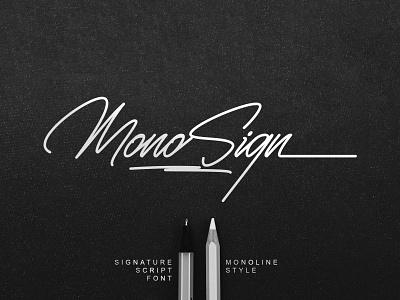 Monosign - Signature Font monoline design handlettering signature font branding typeface fonts