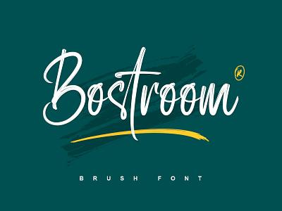 Bostroom   Brush Font brush logotype typography handlettering typeface fonts branding