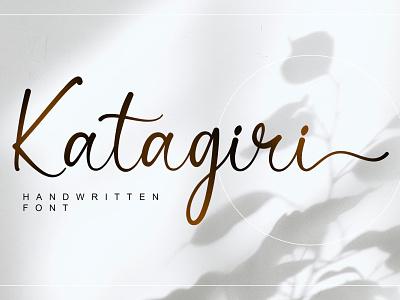Katagiri - Handwritten Font handlettering calligraphy typography typeface branding design fonts