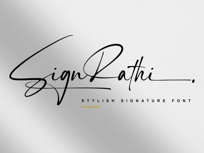 SignRathi - Signature Font signature branding design typeface typography handlettering fonts