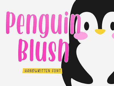 Penguin Blush - Handwritten Font typography typeface design handwritten fonts
