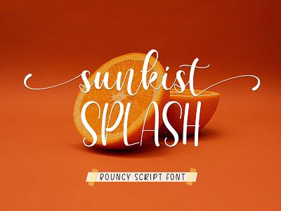 Sunkist Splash Font calligraphy typography handlettering typeface branding design fonts