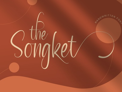 The Songket graphic design calligraphy typography handlettering typeface design branding fonts