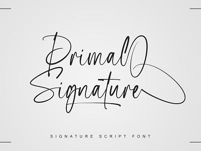 Primal Signature Font typeface design signature branding calligraphy typography handlettering fonts