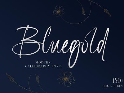Bluegold Font branding calligraphy typography handlettering typeface design fonts