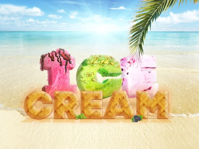 Создали визуал для сайта кафе-мороженого. Вышло аппетитно! ) visual web illustration digital design