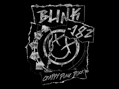 Blink 182 • Crappy Cuts merch band blink 182 punk rip paper