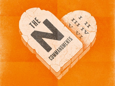 The N Commandments • Key Art andy stanley north point church heart commandments