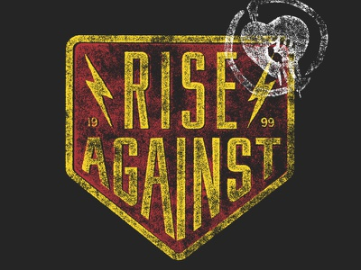 Rise Against • Badge rise against bolts badge merch band