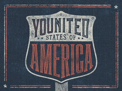 Younited States of America • Key Art badge fourth july independence day states united usa america
