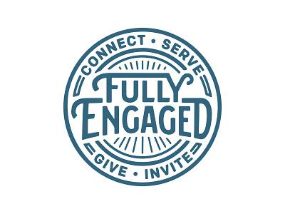 Engaged • Coaster badge coaster