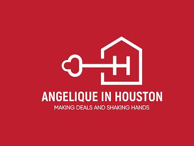 Angelique In Houston logo folio logo design branding brand identity brand design logo